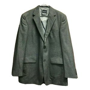 Nautica Men Charcoal Grey Blazer Jacket Wool 44L